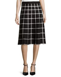 Chelsea And Theodore Jacquard A Line Midi Skirt Black Ivor