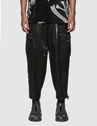 Mastermind World Skull Embroidery Loose Fit Cargo Pants Black