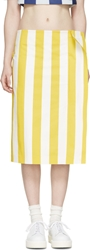 Jacquemus Yellow Striped Beach Wrap Skirt