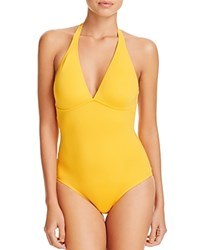 Vilebrequin Solid Water One Piece Swimsuit Marigold Yellow