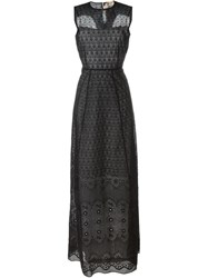 No21 Embroidered Evening Dress Black