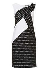 Betty Barclay Monochrome Lace Shift Dress Black White