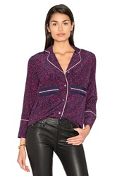 Derek Lam Pajama Blouse Purple