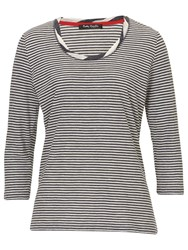 Betty Barclay Striped Tee Dark Blue Cream