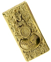 Vatican Money Clip Gold Tone God Is With You