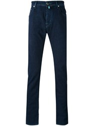Jacob Cohen Denim Straight Leg Jeans Men Cotton Polyester Spandex Elastane 33 Blue