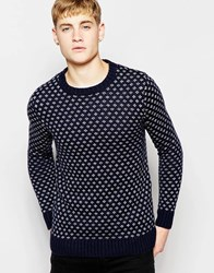 Pull And Bear Pullandbear Knitted Jumper With Contrast Trims Red