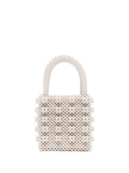 Shrimps Cream Antonia Beaded Bag 60