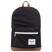 Herschel Supply Co. Pop Quiz Backpack Black Tan Synthetic Leather