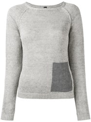 Eleventy Patch Pocket Jumper Women Linen Flax S Grey