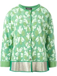 Twin Set Floral Pattern Fitted Jacket Green