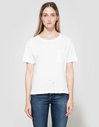 Amo Tomboy Pocket Tee White