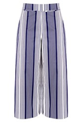 Warehouse Stripe Culottes Navy