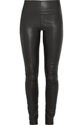 By Malene Birger Elenasoo Leather Leggings Black