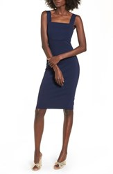 Soprano Body Con Dress Navy