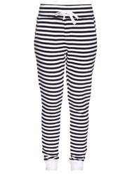 The Upside The Como Striped Track Pants Navy White