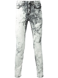 Neil Barrett Acid Wash Jeans White