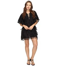 Seafolly Embroidered Kaftan Cover Up Black Women's Swimwear