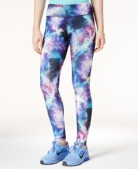 Energie Active Juniors' Printed Leggings Galaxy Print