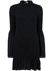 Stella Mccartney Ruched Panel Dress Blue