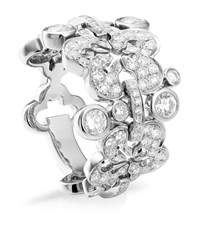 Boodles Blossom Diamond Ring Silver