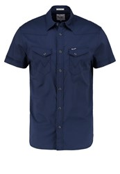 Wrangler Regular Fit Shirt Navy Blue