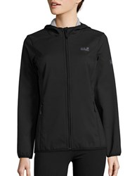 Jack Wolfskin Softshell Fleece Lined Activewear Jacket Black