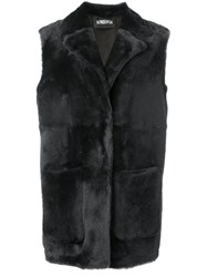 Desa 1972 Snap Fastening Sleeveless Jacket Black