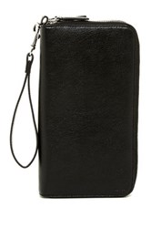 Cole Haan Zip Around Leather Wallet Black