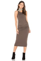 Michael Stars Racerback Dress Brown