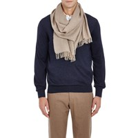 Barneys New York Cashmere Loose Knit Scarf Brown