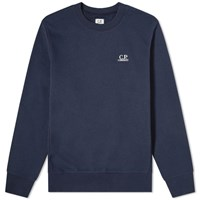 C.P. Company Embroidered Logo Sweat Blue
