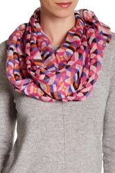 14Th And Union Geo Print Infinity Scarf Pink