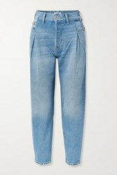 Re Done 40S Zoot Pleated High Rise Tapered Jeans Blue