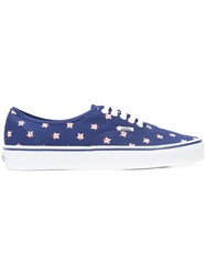 Vans Patterned Sneakers Men Cotton Rubber 13 Blue