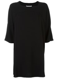 Diane Von Furstenberg Short Shift Dress Black