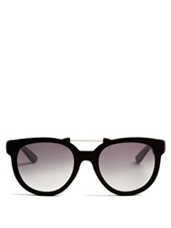 Italia Independent Velvet Coated Sunglasses Black
