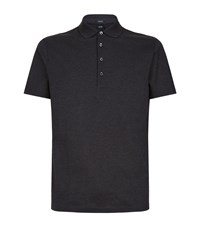 Boss Cotton Polo Shirt Grey