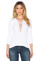 Free People Lace Up Top White