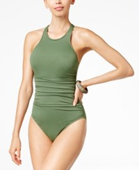 Magicsuit Danika High Neck Tummy Control One Piece Swimsuit Women's Swimsuit Olive