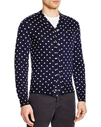 Comme Des Garcons Cdg Play Polka Dot Cardigan Navy