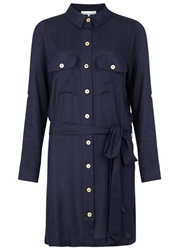 Heidi Klein La Boheme Navy Belted Shirt Dress