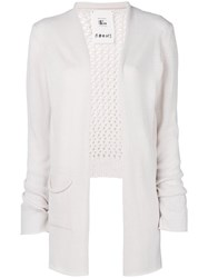 Lost And Found Rooms Net Side Slit Cardigan White