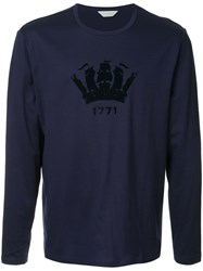 Gieves And Hawkes Logo T Shirt Blue