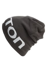 Men's Burton 'Billboard' Reversible Logo Beanie Grey Faded Sawed Off