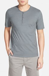 Men's Calibrate Slub Short Sleeve Henley Grey Shade
