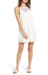 Speechless Embroidered Swing Dress Milky White