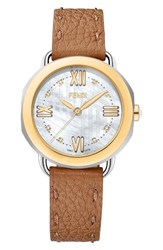 Fendi Women's Selleria Mother Of Pearl Leather Strap Watch 36Mm