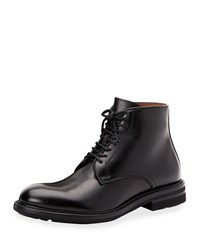 Aquatalia By Marvin K Renzo Waterproof Leather Lace Up Boots Black