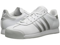 Adidas Samoa Leather Footwear White Silver Metallic Clear Grey Women's Soccer Shoes